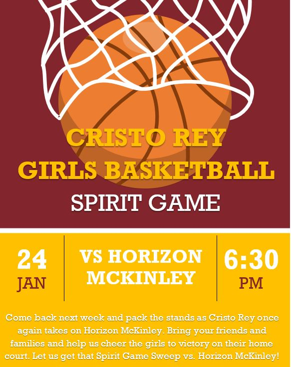 Girls Basketball Spirit Game