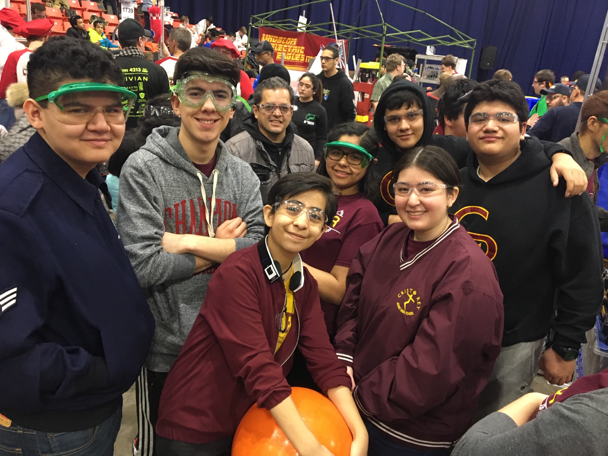 Reybots compete in the FIRST Midwest Regional competition